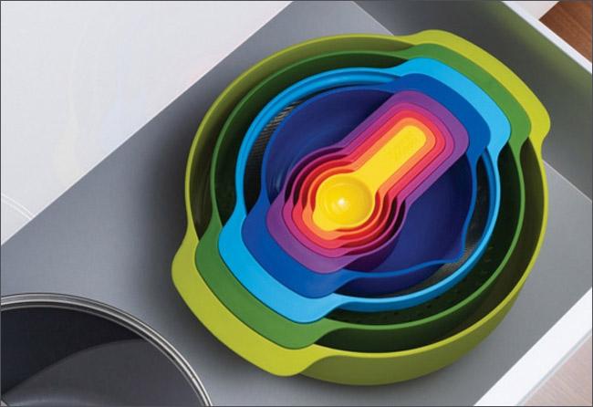 Joseph 量杯打蛋盆9件組 量杯 茶匙 打蛋攪拌盆 不鏽鋼濾篩 止滑設計 收納